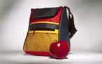 backpack and apple